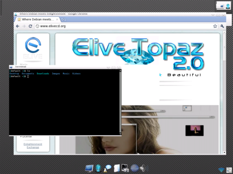 glimpse of desktop running chrome and terminal